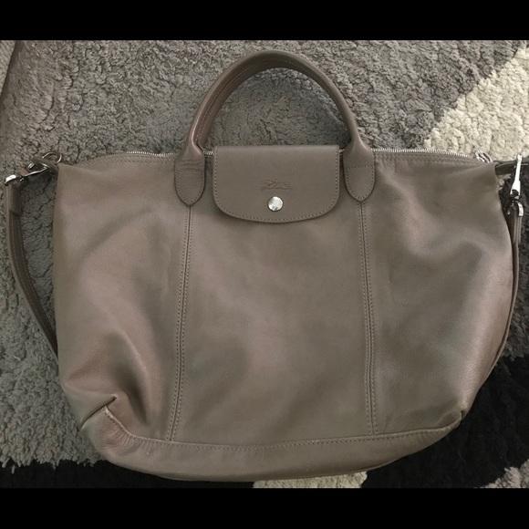 Longchamp Le Pliage CUIR Bag. Large